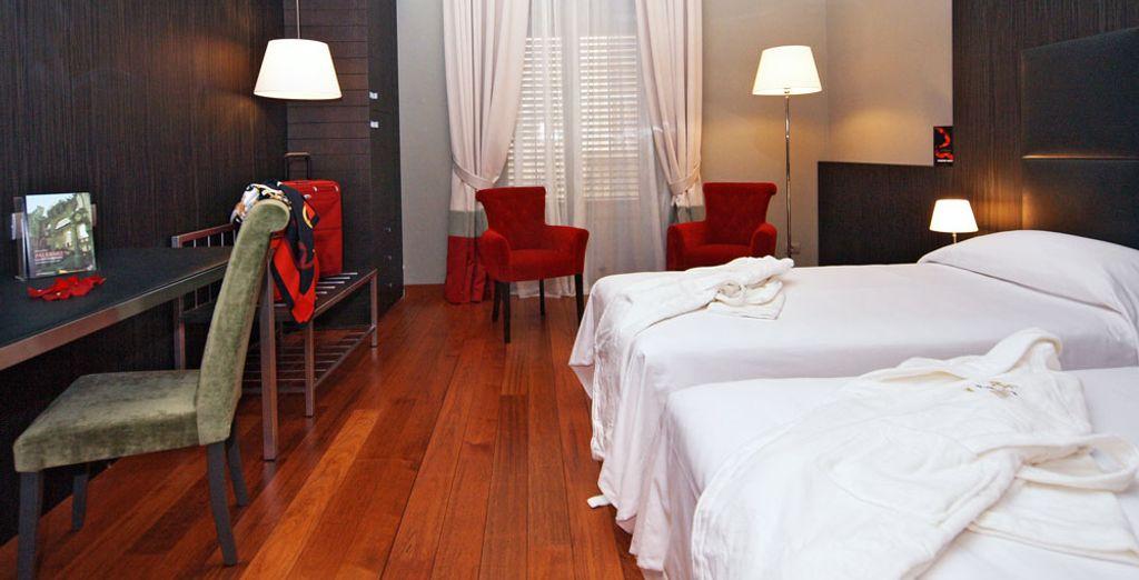 En chambre Double Supérieure également proposée au voyageur solitaire...