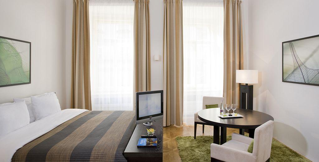 Le luminose Junior Suite sono la sistemazione perfetta per il vostro soggiorno