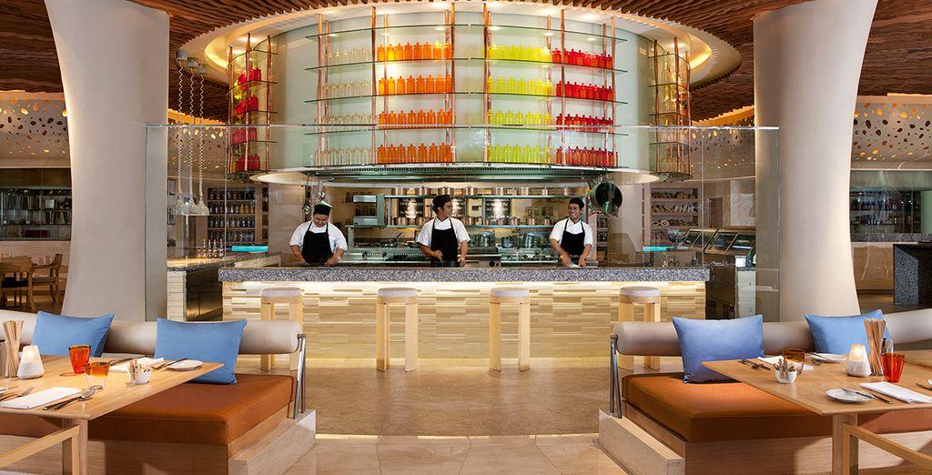 Potrete deliziare i vostri palati in uno dei 5 ristoranti e bar