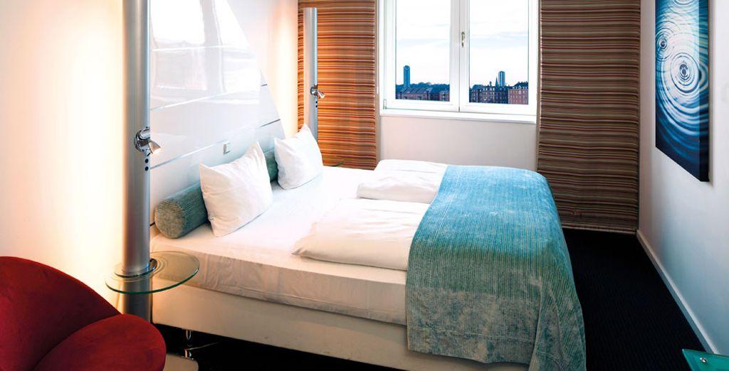 Le camere sono tutte inondate di sole (in foto: camera doppia standard)
