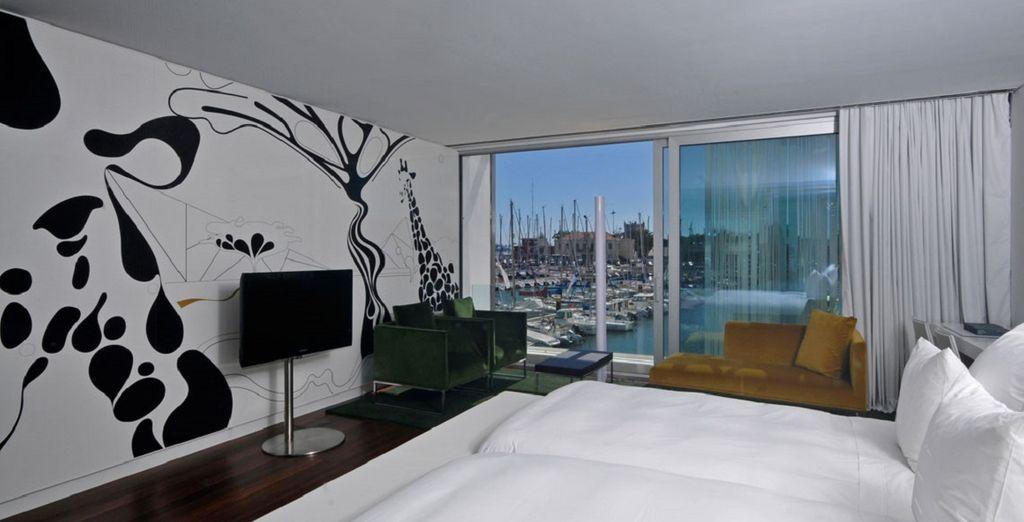 la vostra camera Deluxe vi accoglierà con tutti i comfort
