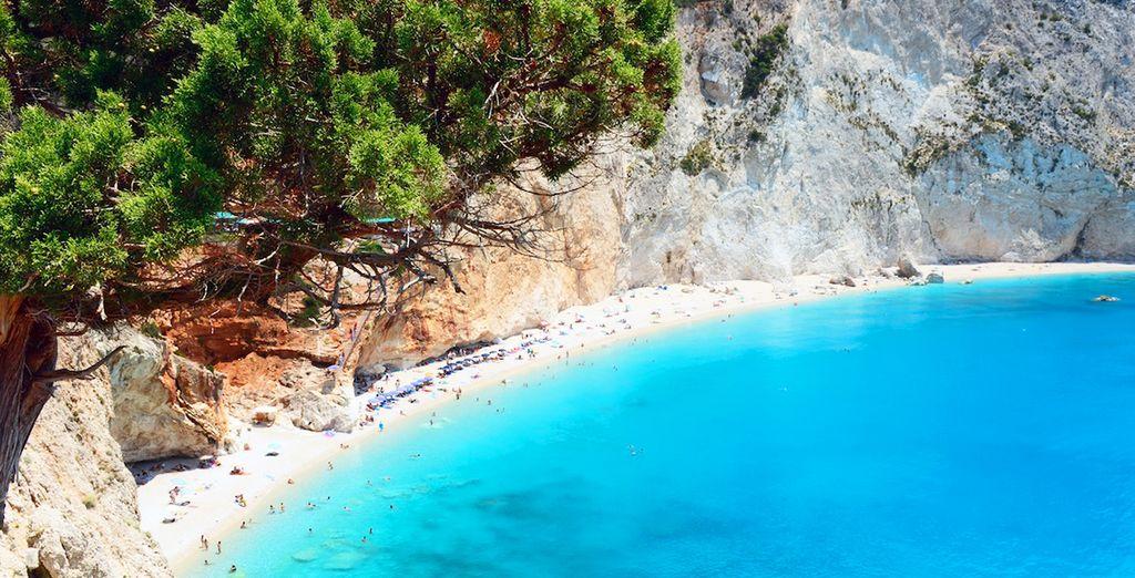 Spiagge e acque turchesi a Lefkada