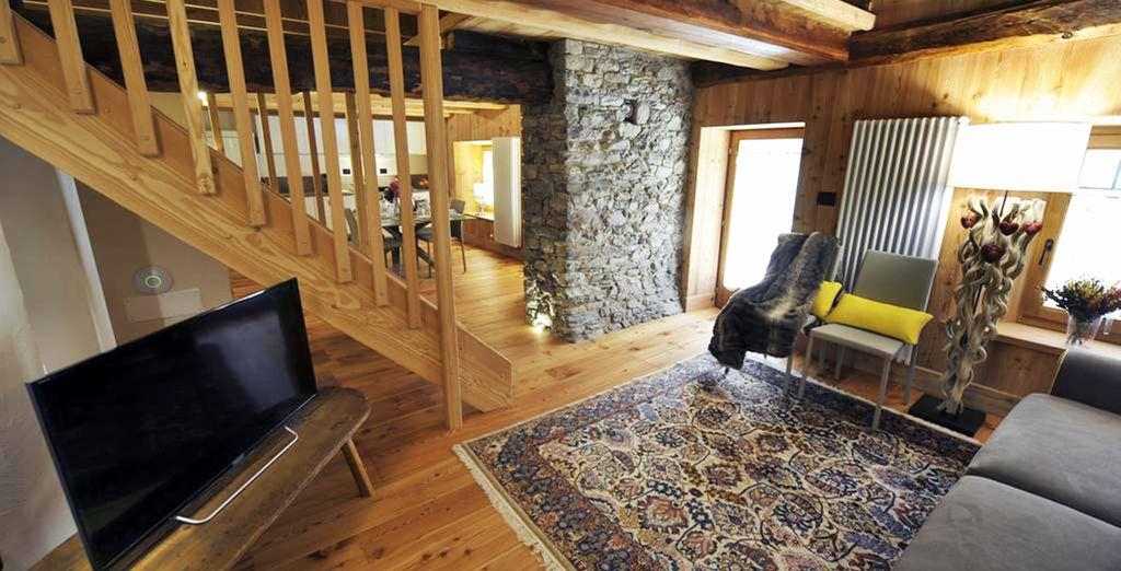 è  un connubio perfetto tra il caldo legno e il design