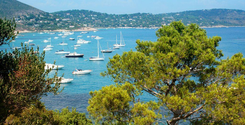 nel sublime golfo di Saint-Tropez