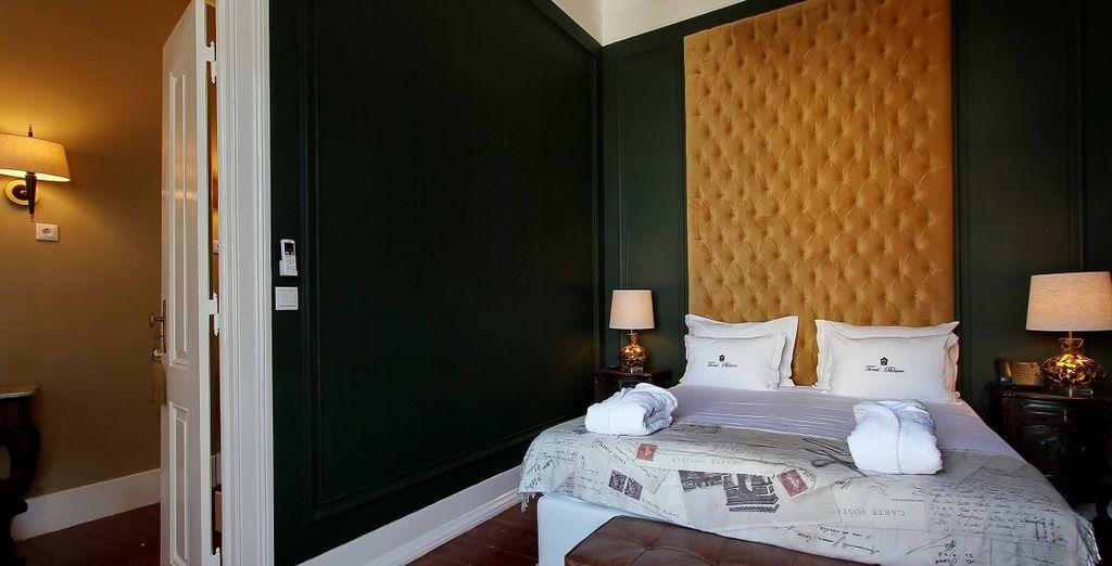 Soggiornerete nelle eleganti camere Standard