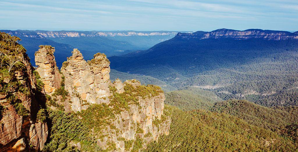 Fotografia del Blue Mountain Nature Park in Australia e dei suoi paesaggi mozzafiato