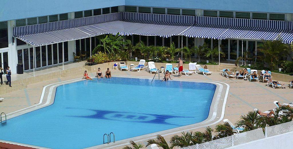 La piscina dove godervi momenti di relax