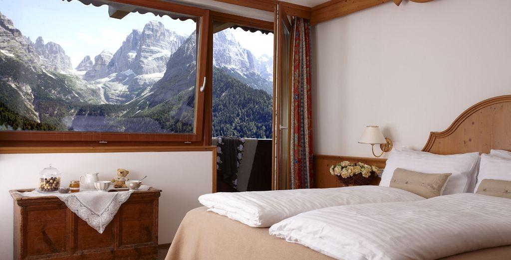 La camera Genziana è un'oasi di pace con panorami stupendi