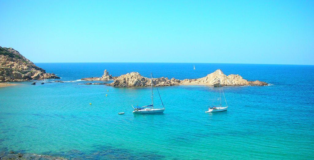 Fotografia delle Baleari e vista sul Mar Mediterraneo