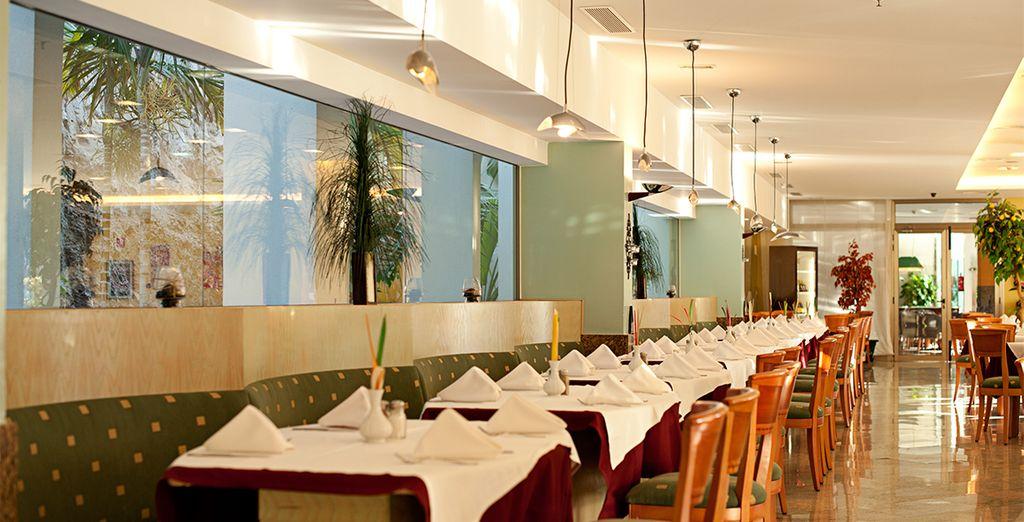 potrete accomodarvi al ristorante a pranzo e a cena