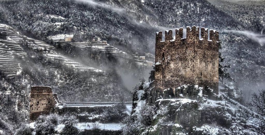 lo scenario del Castello di Segonzano vi lascerà senza fiato