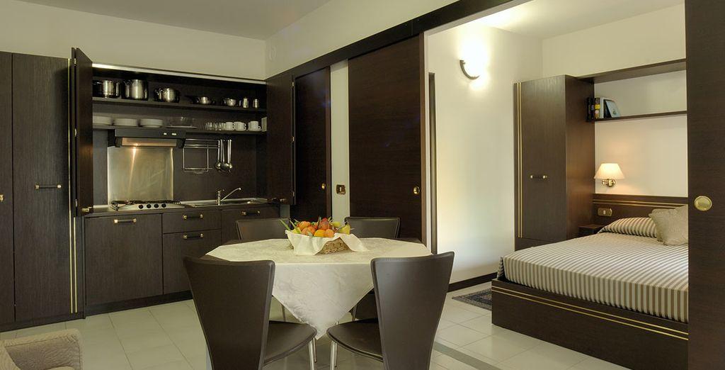 La confortevole sistemazione in appartamento