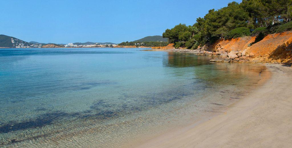 Situato lungo una delle più belle spiagge di Ibiza