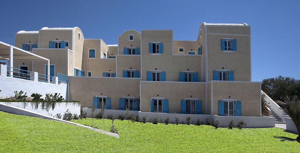 soggiornerete in un hotel in tipico stile greco