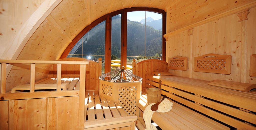 Rilassatevi nella splendida sauna