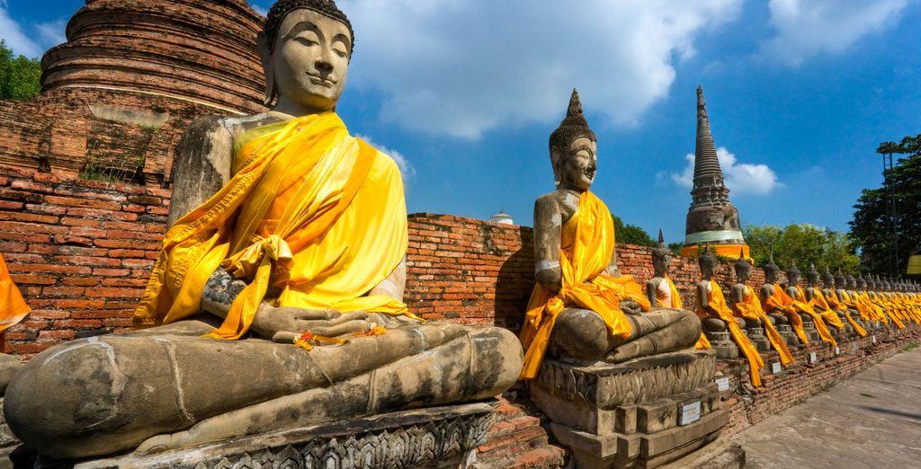 dai budda caratteristici di Ayutthaya