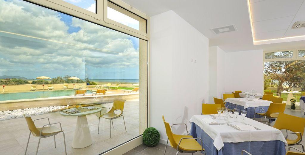 Il ristorante con vista vi regalerà splendidi panorami