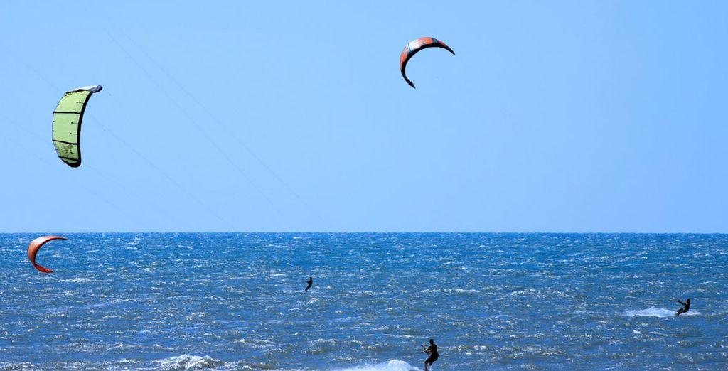 Luogo ideale per praticare sport come il Kite-surf