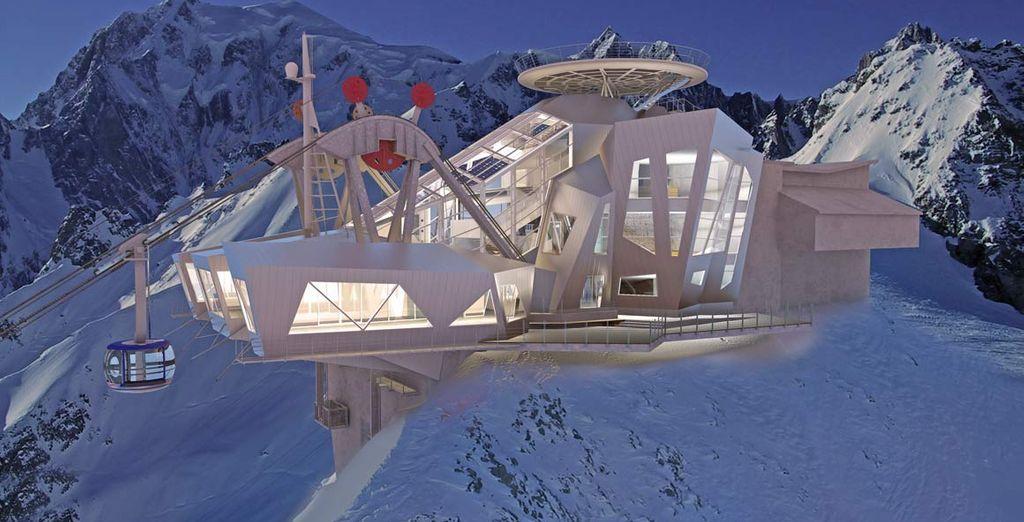 Con la spettacolare funivia Skyway che vi porterà sul tetto d'Europa