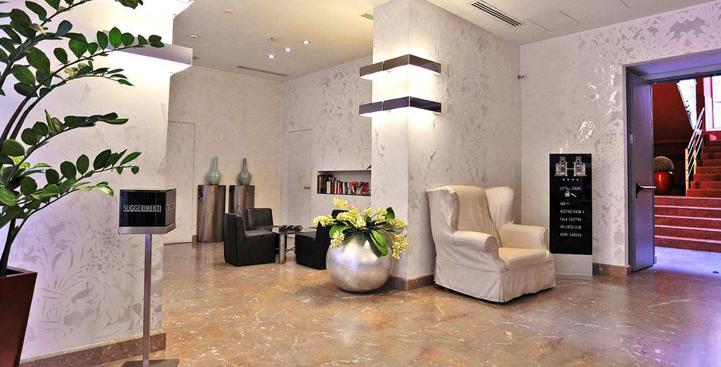 Potrete soggiornare in un hotel moderno, con interni raffinati