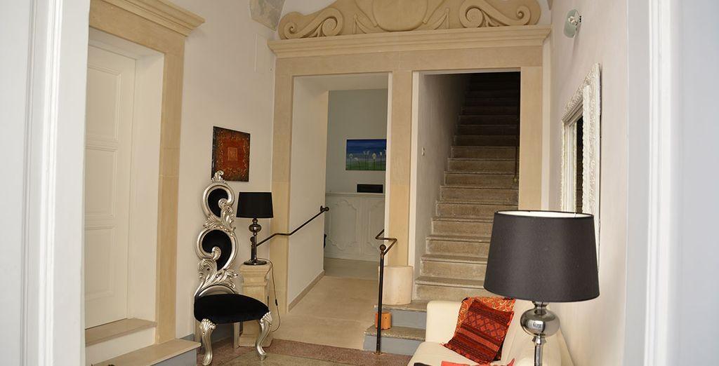 L'UP Room& Suite è un palazzo antico completamente ristrutturato nel cuore di Lecce