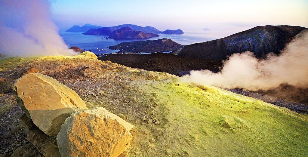 nell'affascinante isola di Vulcano