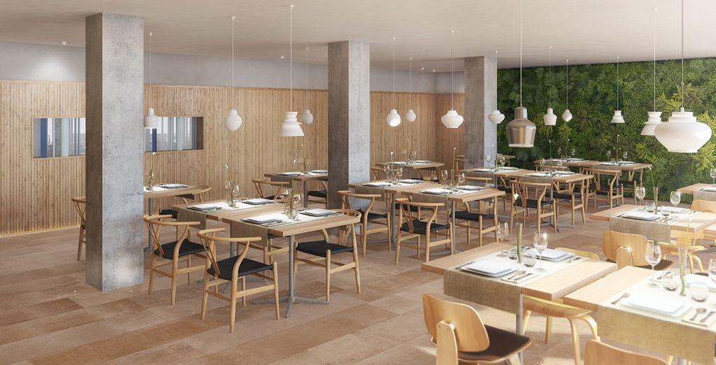 Il ristorante propone una cucina attenta alla salute, ricca di prodotti freschi e genuini