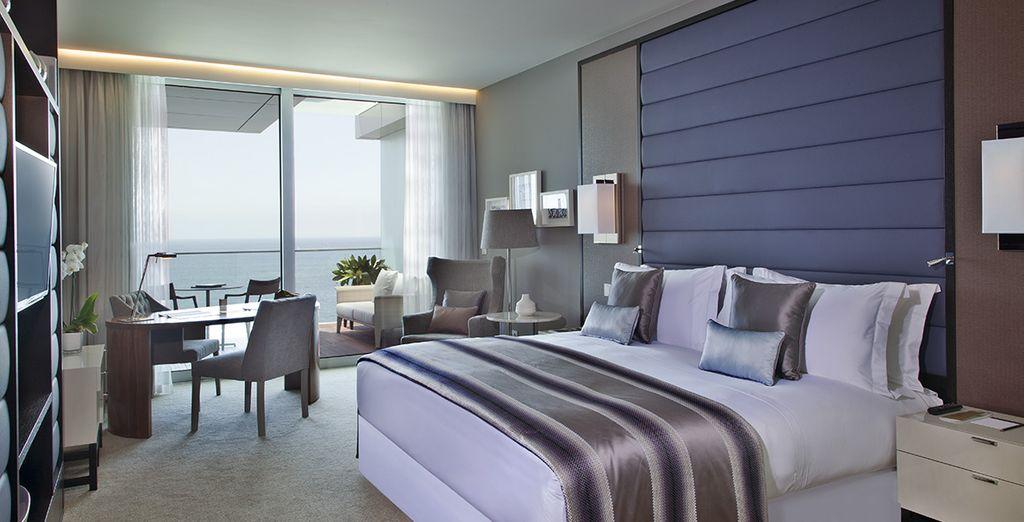 Per i soggiorni dal 01/11 al 30/12 potrete soggiornare in una raffinata Camera con Vista Oceano