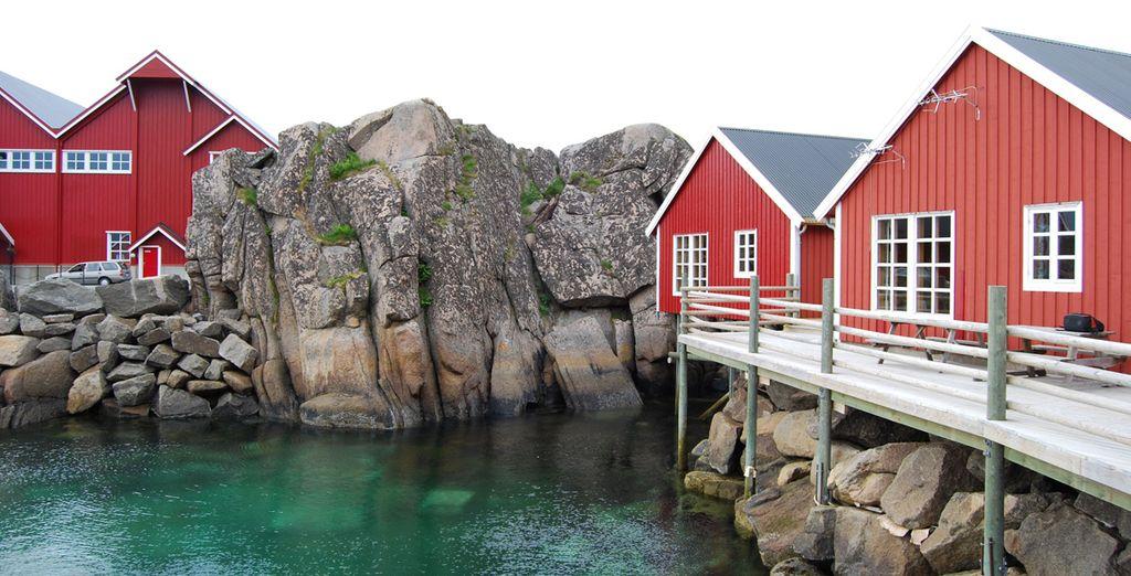 Le tipiche case rosse norvegesi