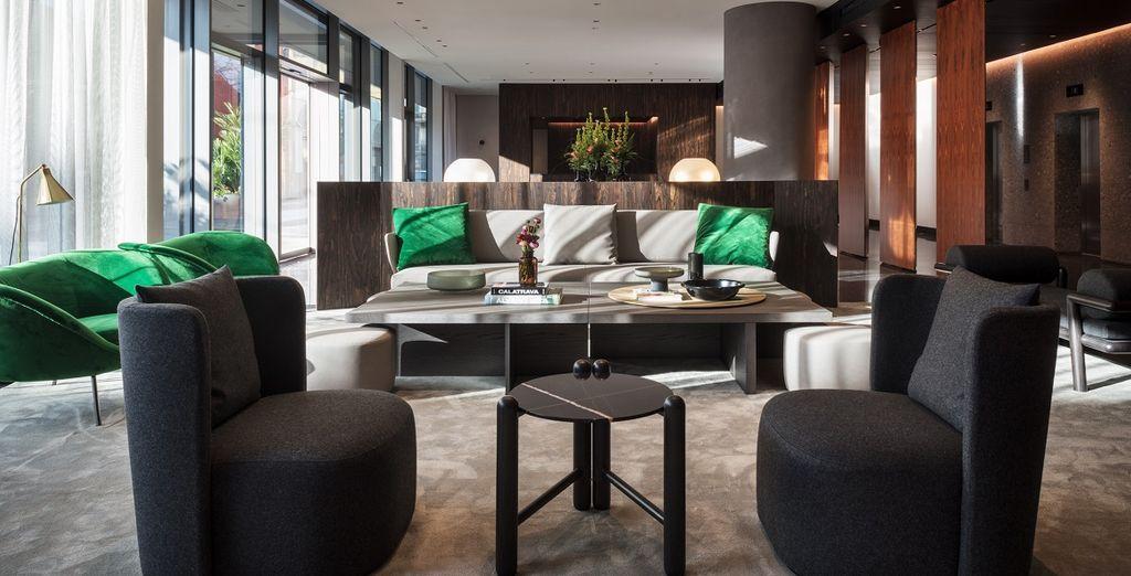 Gli interni eleganti e raffinati