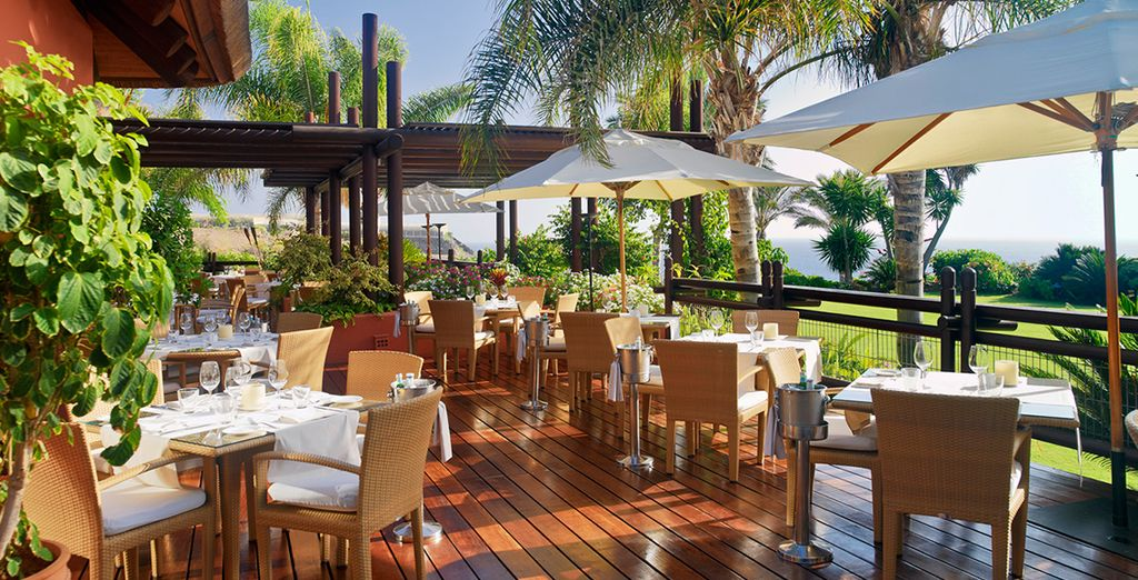 Il ristorante El Mirador è specializzato in frutti di mare di provenienza locale