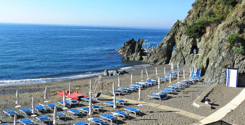 sulla magnifica costa della Liguria