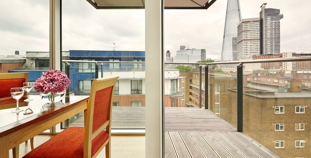 Ambienti panoramici come la terrazza