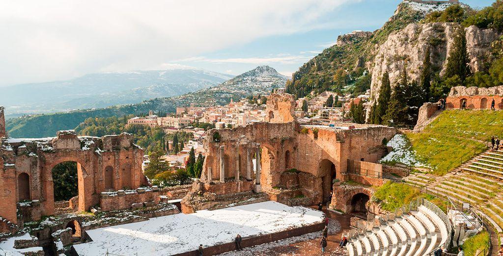 Potrete ammirare la bellezza di Taormina