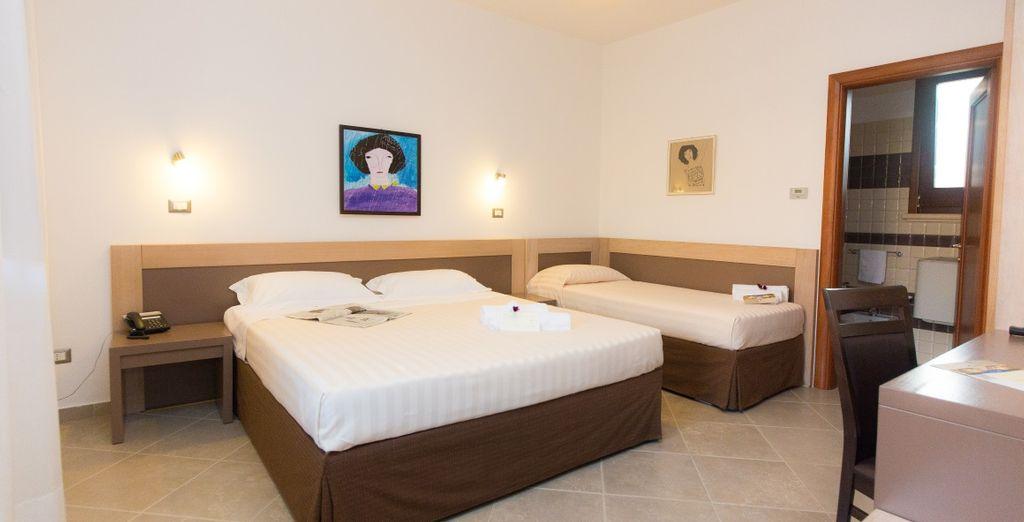 Le confortevoli camere Classic sono in grado di ospitare fino a 3 persone