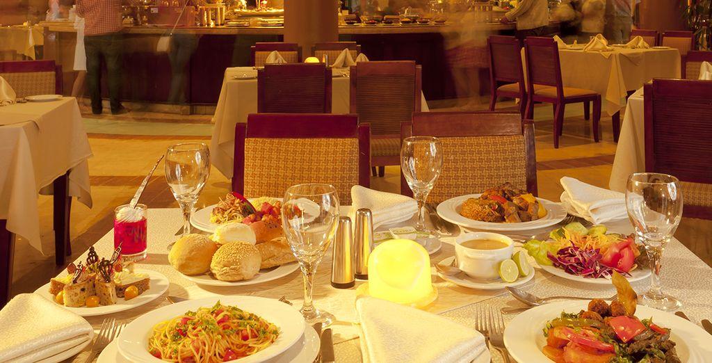 Ai piatti raffinati della cena