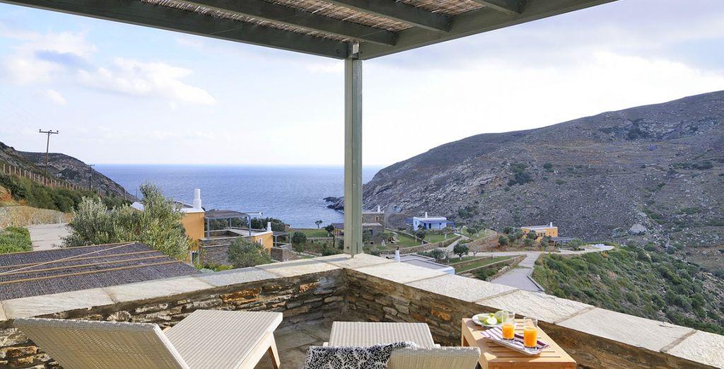 Godrete di un panorama mozzafiato dalla splendida terrazza vista mare