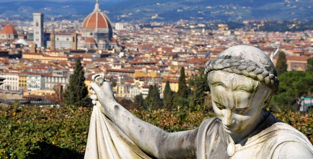 e le bellezze di Firenze distano pochi chilometri dalla villa