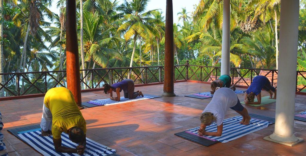 Potrete anche partecipare a lezioni di yoga, per un recupero totale delle vostre energie