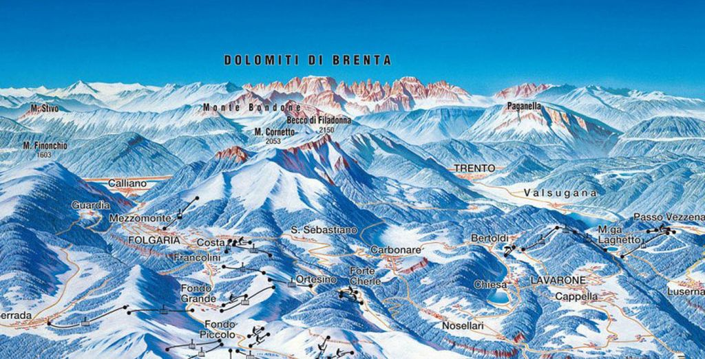 Folgaria con il comprensorio sciistico saprà soddisfare anche lo sciatore più esigente...