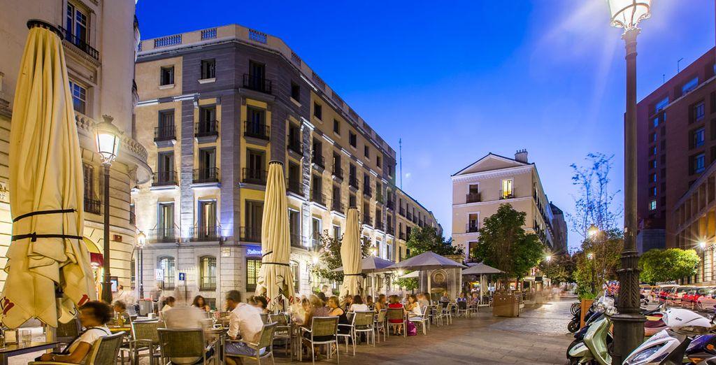 Questo hotel affascinante si trova in una zona culturale di Madrid
