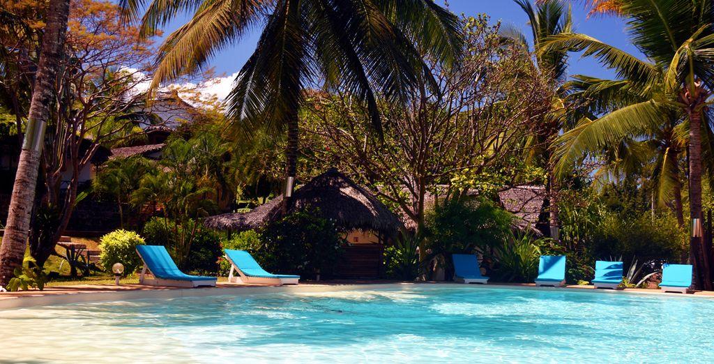 La piscina, luogo ideale per rilassarsi
