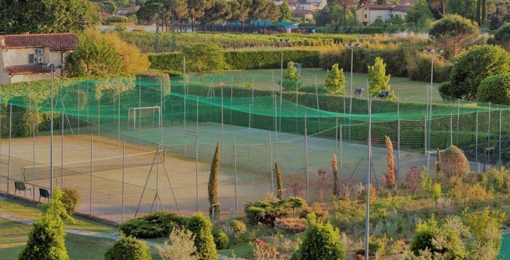 Gli sportivi potranno divertirsi giocando a tennis o a calcetto