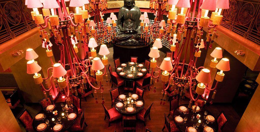 Potrete gustare ottimi piatti in atmosfere lounge e orientali