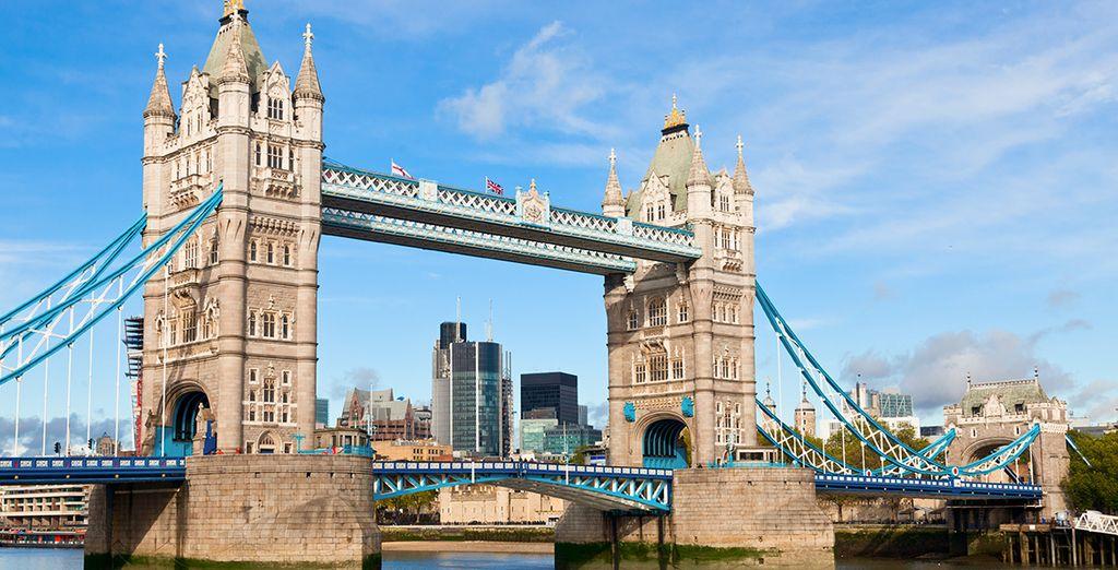 potrete raggiungere velocemente i grandi e famosi monumenti, come il Tower Bridge