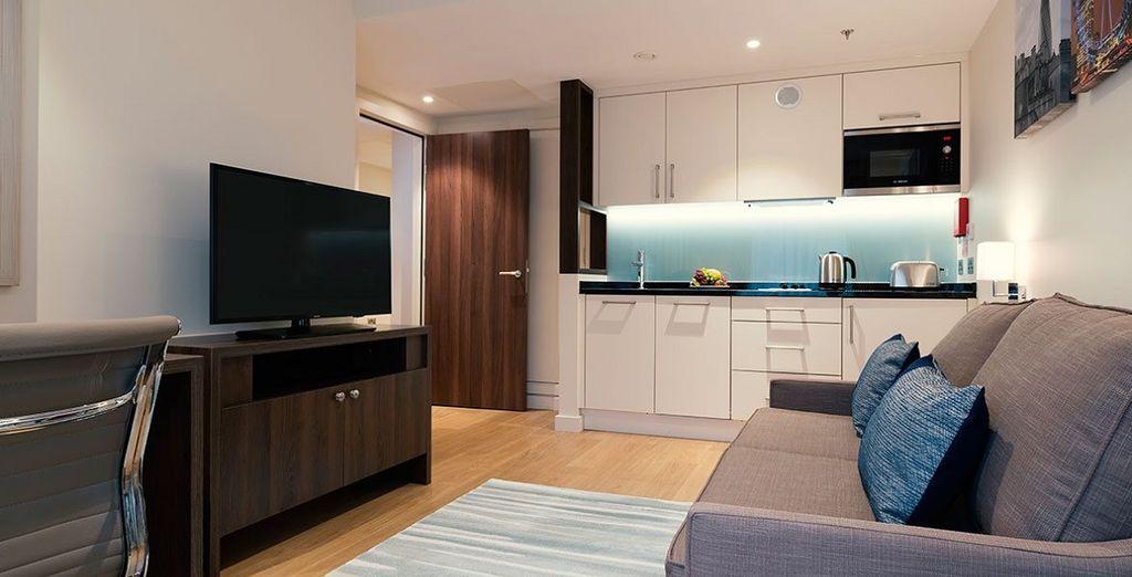 dotati di tutti i comfort, per un piacevole soggiorno nella metropoli inglese