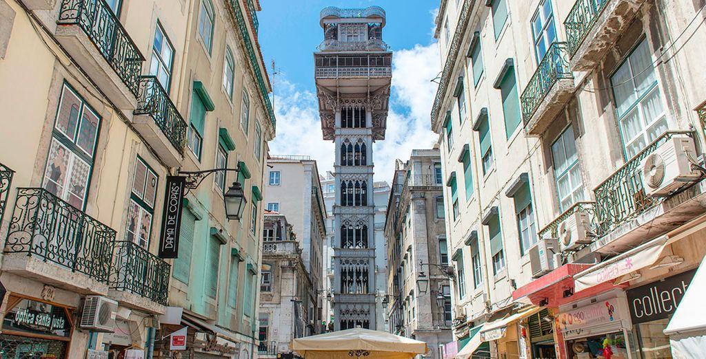 A pochi passi dall'hotel, l'ascensore di Santa Justa vi farà ammirare la città dall'alto
