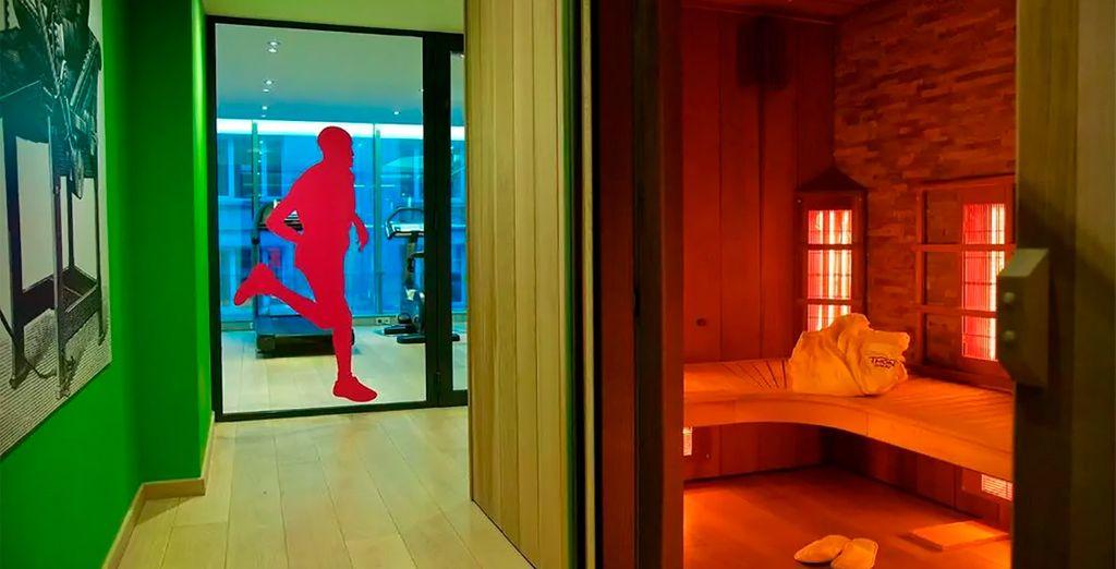 l'hotel dispone anche di una sauna per il relax