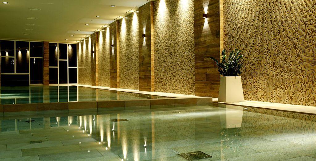 Con il parchetto di mezza pensione avete la possibilità di acquistare in opzione l'ingresso a questa moderna spa