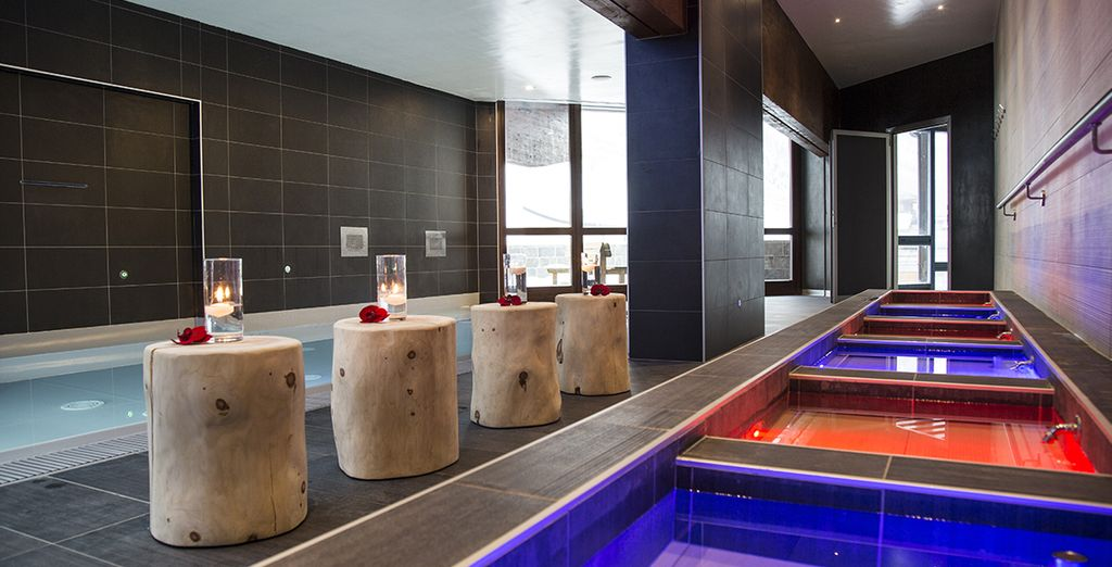 nello splendido centro benessere Blu Aqua Wellness & Spa